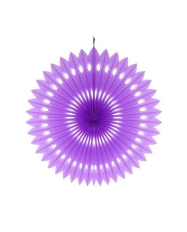 Pap. rozeta -fialová 40cm 1ks