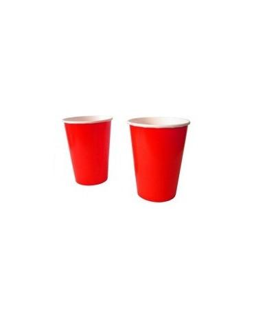 Poháre - červené 180 ml 10ks