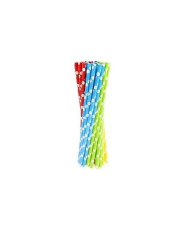 Papier. slamky - viacfarebné 240ks