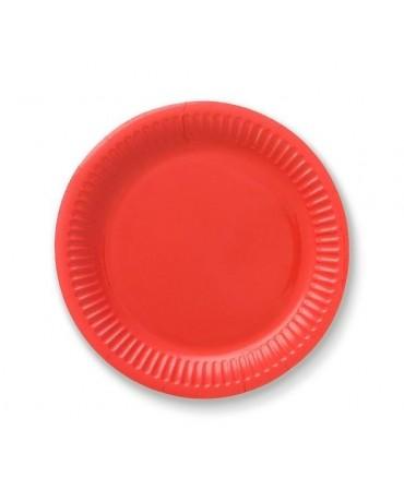 Tanieriky - červené 18 cm - 6 ks