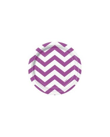 Tanieriky - fialové-biel.vlnky 18 cm 8ks