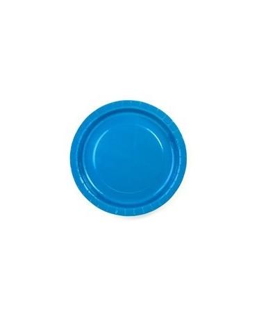 Tanieriky -modré 23 cm - 6 ks