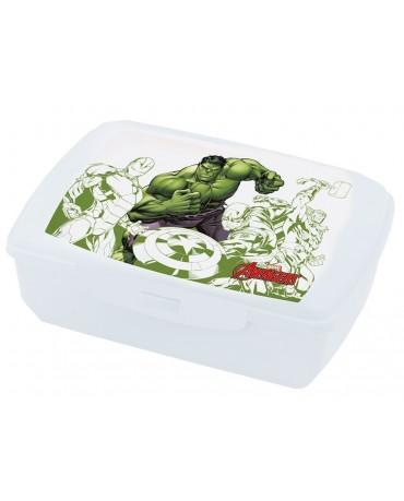 Plast. box na jedlo Avengers- Hulk 20x13 cm