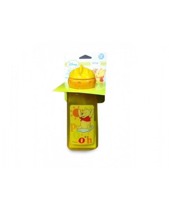 Plast. fľaša Macko Pu - oranžová 357 ml