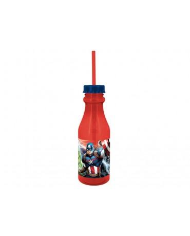 Plastová fľaša so slamkou Avengers 500 ml