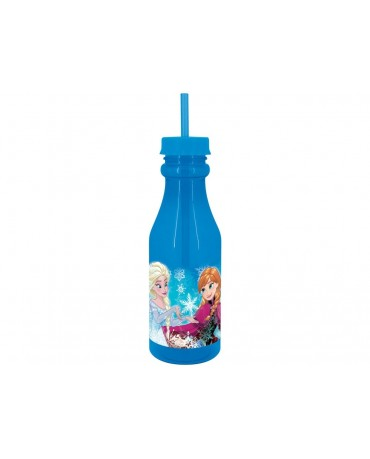 Plastová fľaša so slamkou Frozen 500 ml