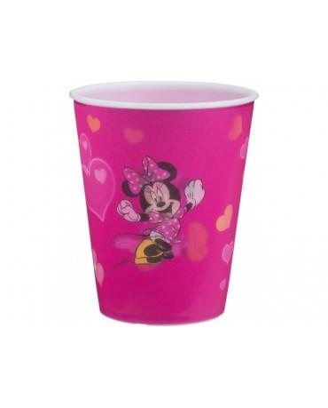 Plastový pohár 3D Minnie Mouse 350 ml - tmavoružový