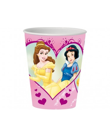 Plast. pohár 3D Princess 350 ml