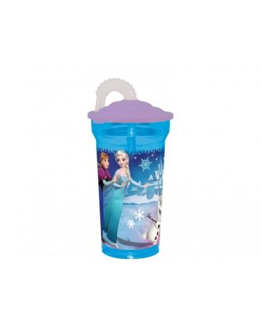 Plastový pohár so slamkou Frozen 350 ml