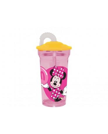 Plastový pohár so slamkou Minnie Mouse 350 ml