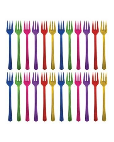 Plastové vidličky -farebné 20ks