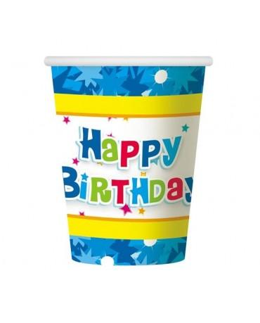 Poháre Hap. Birthday -modré 270 ml 6ks