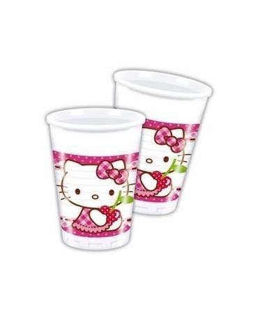 Poháre Hello Kitty - srdcia 200ml - 8 ks