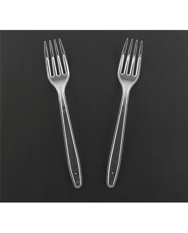 Priehľ. plast. vidličky 6ks