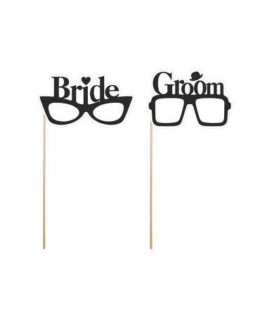 Rekvizity na fotenie - Bride a Groom 2ks