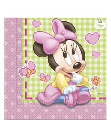 Servítky  Minnie Mouse- Baby - 33cm 20ks