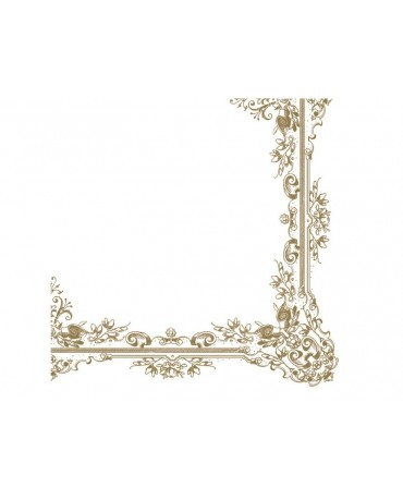 Servítky biele -zlat. ornam. 33cm 20ks