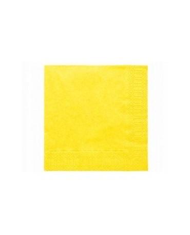 Servítky jasno- žlté - 3 vrstvové 33cm 20ks