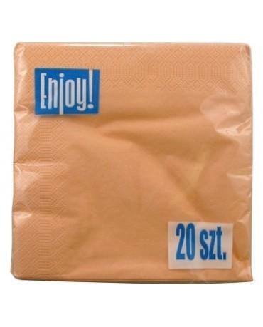 Servítky lososové - 33cm 20ks/