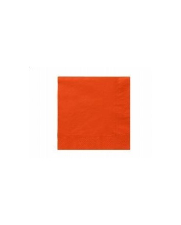 Servítky oranžové- 3 vrstvové 33cm 20ks