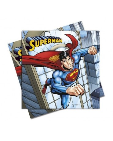 Servítky Superman-komiks - 33 cm - 20 ks