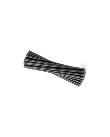 Slamky - čierne 25 cm - 20ks