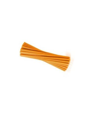 Slamky - oranžové 25 cm - 20ks