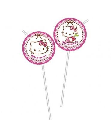 Slamky Hello Kitty - srdcia  6ks
