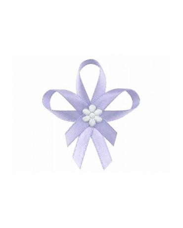 Stužky pre svad. hostí - fialové so saténovým kvetom 25ks