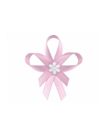 Stužky pre svad. hostí - ružové so saténovým kvetom 25ks