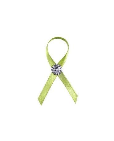Stužky pre svad. hostí - zelené s dekoráciou 25ks