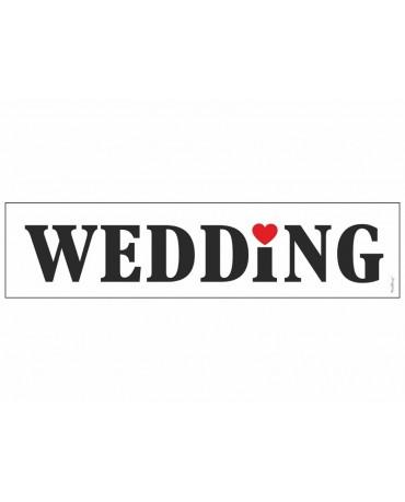 "Svad. dosky s nápisom ""Wedding 10ks"
