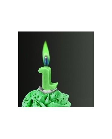 Sviečka - č.2 -zelený plameň