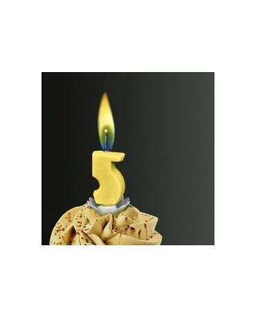 Sviečka - č.5 -žltý plameň