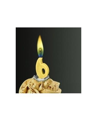 Sviečka - č.6 -žltý plameň