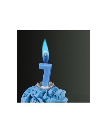 Sviečka - č.7 -modrý plameň
