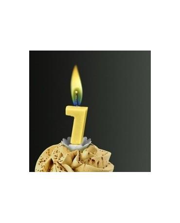 Sviečka - č.7 -žltý plameň