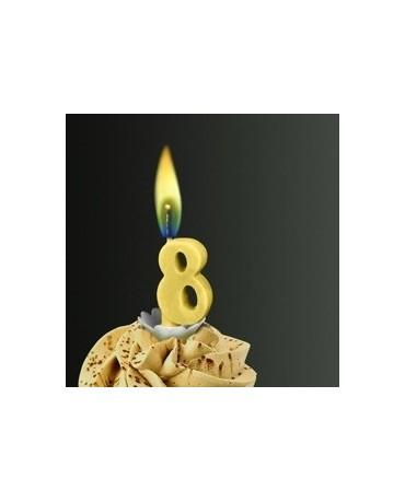 Sviečka - č.8 -žltý plameň