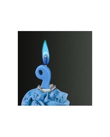 Sviečka - č.9 -modrý plameň