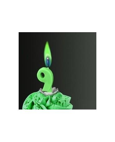 Sviečka - č.6 -zelený plameň