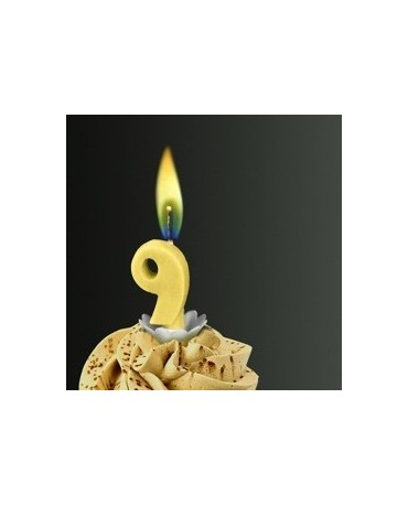 Sviečka - č.9 -žltý plameň
