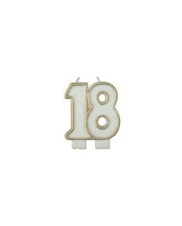 Sviečka č.18. -zlatý okraj 1ks