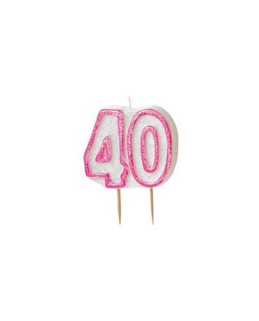 Sviečka č.40 -ružový okraj