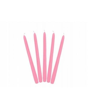 Sviečky - matné ružové 24cm 10ks
