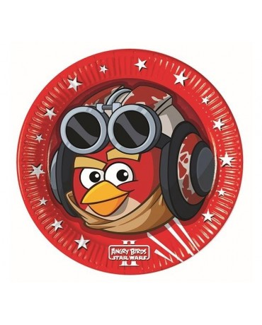 Tanierik Angry Birds - Star Wars 23 cm - 8 ks