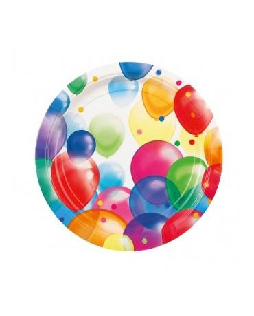 "Tanieriky Balóniky  9"" 8ks"