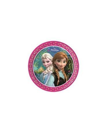 Tanieriky Frozen  23 cm - 8 ks