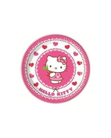Tanieriky Hello Kitty 20 cm - 8 ks