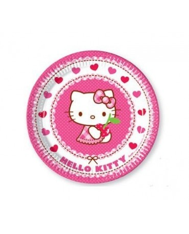 Tanieriky Hello Kitty 23 cm - 8 ks