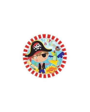 Tanieriky Malý pirát 23 cm - 8 ks
